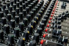 Vintage mixing console Stock Photo