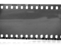 Vintage 35mm black-and-white negative film frame Stock Images