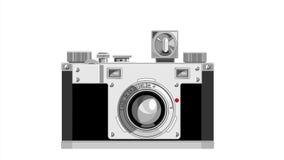 Vintage 35mm Film Camera 2D Animation