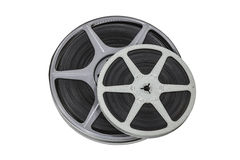 Vintage 8mm Film Reels Isolated Stock Images