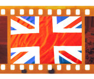 Vintage 35mm frame photo film with UK, British flag, Union J Royalty Free Stock Photo
