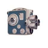 Vintage 8mm movie camera profile Stock Photos