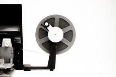 Vintage 8mm movie editing desktop in black and white Royalty Free Stock Photo