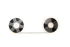 Vintage 8mm movie reels white background Stock Photo