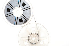 Vintage 8mm movie reels white background Royalty Free Stock Image