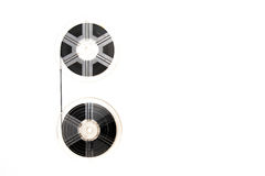 Vintage 8mm movie reels white background Royalty Free Stock Photos