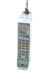 Vintage mobile phone Isolated Stock Photo
