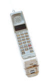 Vintage mobile phone Isolated Stock Images