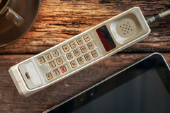 Vintage mobile phone Stock Images