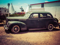 Vintage Mobster Car. Vintage Mobster Vehicle in Holbrook, Arizona stock image