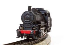 Vintage Model Steam Locomotive on the Rails Stock Photo