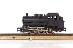 Vintage Model Steam Locomotive on the Rails Royalty Free Stock Photos
