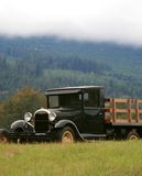 Vintage Model T Truck. 1928 vintage truck on a misty autumn day Royalty Free Stock Photos