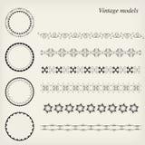 Vintage models. Circle models and vertical models vector illustration