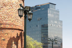 Vintage and modern buildings in Santiago, Chile Stock Photo