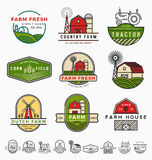 Vintage modern farm logo template design Royalty Free Stock Images