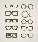 Vintage and modern glasses stock illustration