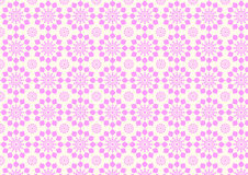Vintage Modern Pink Flower Pattern on Pastel Color Royalty Free Stock Image