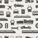 Vintage and modern vehicle silhouettes Stock Photos