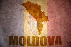 Vintage moldova map Royalty Free Stock Photos