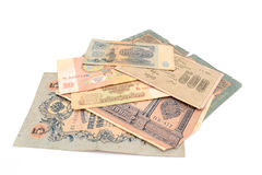 Vintage money. Money USSR. Obsolete. It is no longer valid, expired. Stock Image