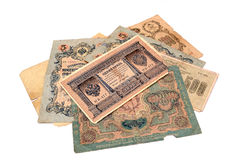 Vintage money. Money USSR. Obsolete. It is no longer valid, expired. Royalty Free Stock Photos