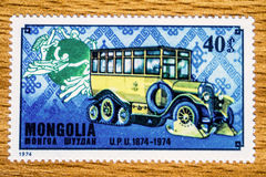 Vintage Mongolia postage stamp Royalty Free Stock Photography