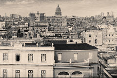Vintage monochromatic image of Old Havana Royalty Free Stock Photos