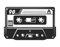 Free Vintage Monochrome Audio Casette Template Royalty Free Stock Images - 119744719