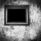 Vintage monochrome frame on grunge Royalty Free Stock Images