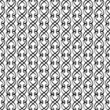 Vintage monochrome line swirl pattern Royalty Free Stock Photography
