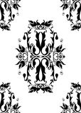 Vintage monochrome pattern Stock Photo