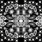 Vintage monochrome patterns of pixels on a black background. (vector eps 10 stock illustration