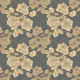 Vintage monochrome roses  Seamless Pattern Royalty Free Stock Photography