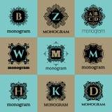 Vintage monogram frame template Stock Image