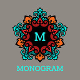 Vintage monogram frame template Royalty Free Stock Photo