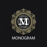 Vintage monogram frame template Stock Photography