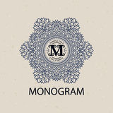 Vintage monogram frame template Royalty Free Stock Images