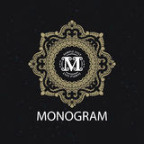 Vintage monogram frame template Royalty Free Stock Photography