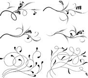 Vintage monograms. And swirl elements royalty free illustration