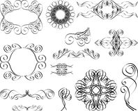 Vintage monograms. And swirl elements vector illustration