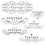 Vintage monograms Stock Photos