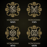 Vintage Monograms - 4 sets Stock Image