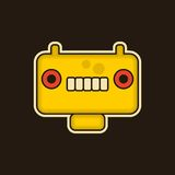 Vintage monster. Cool illustration with robot face royalty free illustration