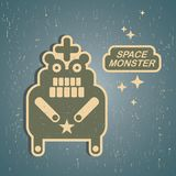 Vintage monster. Royalty Free Stock Images