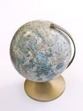Vintage Moon Globe. An old globe showing the features of the moon Stock Photo