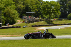 Vintage Morgan race car Royalty Free Stock Photos