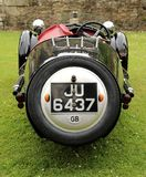 A vintage Morgan Supersport. The car is a three wheeler capable of reaching 100mph. It had a 2 cylinder 1096cc V engine royalty free stock photos