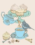 Vintage morning tea background Stock Photography
