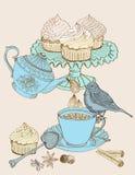 Vintage morning tea background Stock Photography